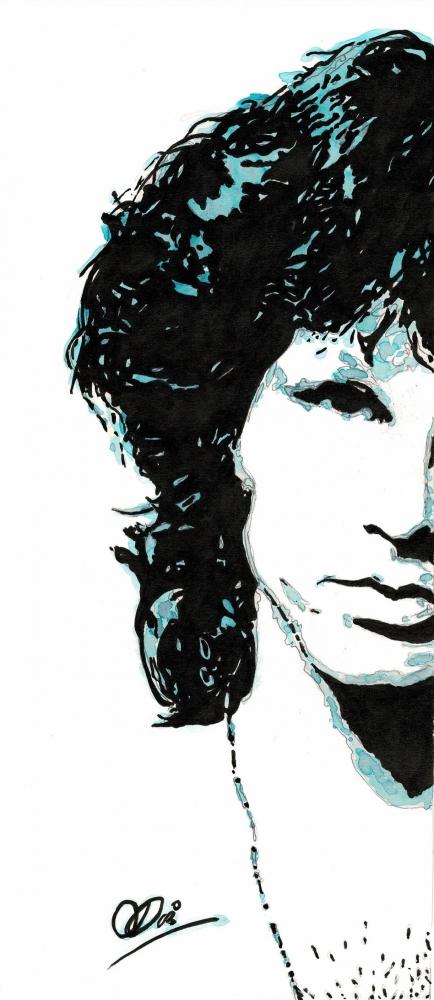 Jim Morrison by Adzee